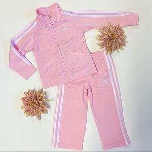 Pink Adidas Tracksuit size 3T